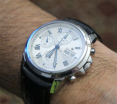 Junghans 027/4412  PIAZZA AUTOMATIC CHRONOGRAPH   42mm    Kal. 7750   WIE NEU!