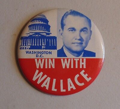 George Wallace 1968 campaign pin button political