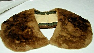 Early Vintage Softest Sheared Beaver Fur Coat Sweater Collar