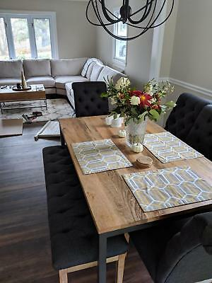 WEST ELM *NEW* Industrial collection coffee table & West Elm DINING TABLE