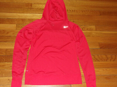 New Nike Dri-Fit Long Sleeve Lightweight Orange Hoodie Womens Medium