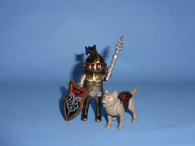 Playmobil Bronze Knight Wolf & Mace  - Male Figure for Castle Joust Medieval