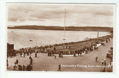 Esplanade Putting Green Helensburgh 1935 Real Photograph Valentines A2398 Old PC