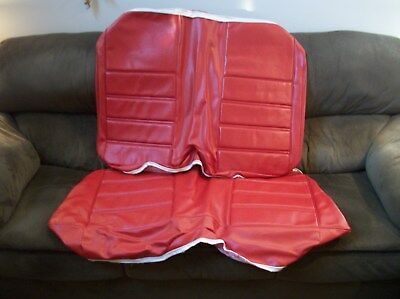 71 72 73 Ford Mustang Coupe Vermillion Red Standard Rear Seat Upholstery