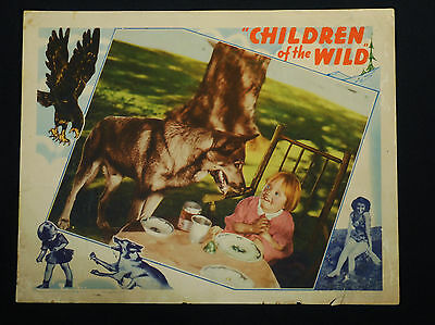 CHILDREN OF THE WILD 1939 * JOAN VALERIE * FANGS, THE DOG * 11 x 14 LOBBY CARD!!