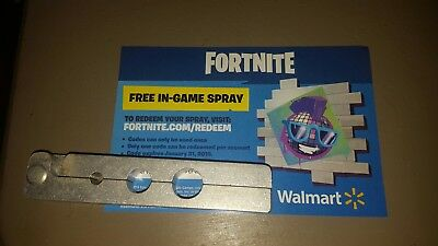 Walmart Exclusive Fortnite In-Game Spray Code sent quickly through eBay messages