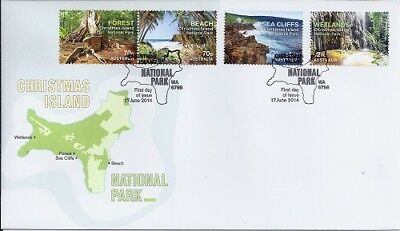 2014 Christmas Island - National Parks First Day Cover FDI