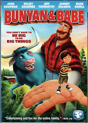 BUNYAN & and BABE The MOVIE on a DVD of PAUL Kid CHILDREN Animated CARTOON Video