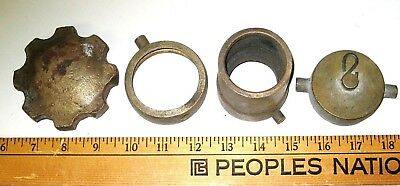Lot of Antique OLD Vintage Fire Truck Heavy Solid Brass Bronze Fire Hose Parts