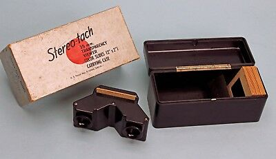 STEREO-TACH 35mm Transparency 3D Stereo Slide Viewer Case Box Kodachrome Slides
