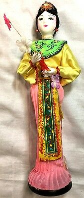 Vintage Chinese doll 10 1/2 inches tall