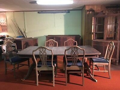 antique mahogany dining room set