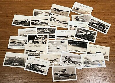 25 Vintage Aircraft Airplane Military Photo Collectible Card Identification