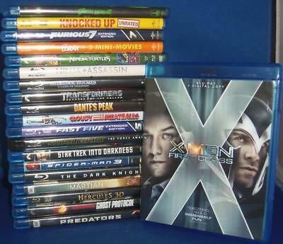 Lot of 20 USED Blu-Ray Movies Box Office Hits X-Men First Class + MORE!!!