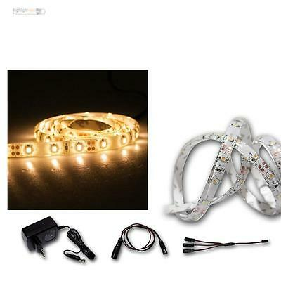 Set Tira Led 3x1m + Transformador, Blanco Cálido Flexible 60 Smds , Banda Barra