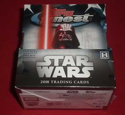 1 2018 Topps Finest Star Wars Trading Cards Hobby Box Brand New Factory Sealed