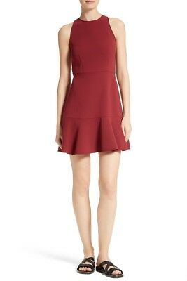 cf130279b4 THEORY Felicitina Fit & Flare Dress Dark Red/Cherry Size 10 NWT $355 (Large