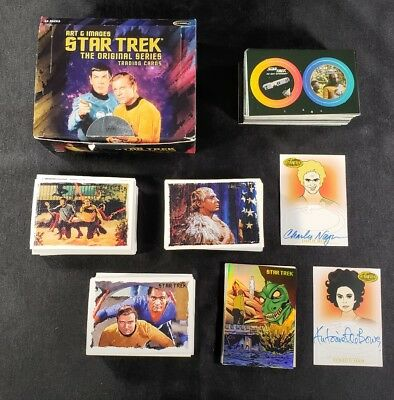 Lot Of Star Trek Trading Cards With 2 Autographs