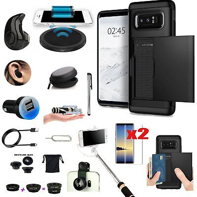 Case+Qi Wireless Charger+Fish Eye+Monopod Accessory For Samsung Galaxy S8+ Plus