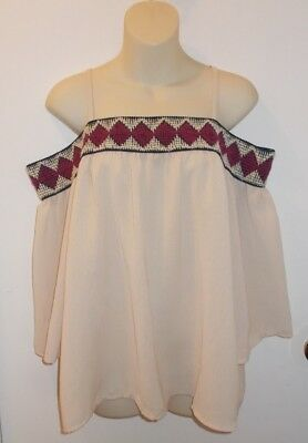 Maurices off the shoulder blouse everyday casual top womens size L NWT!