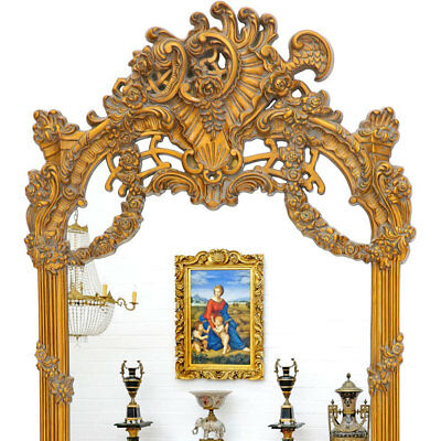 GENUESER BAROCKSPIEGEL ca.240x140cm SUPER-SIZE SPIEGEL GOLD-VERSION - MONUMENTAL