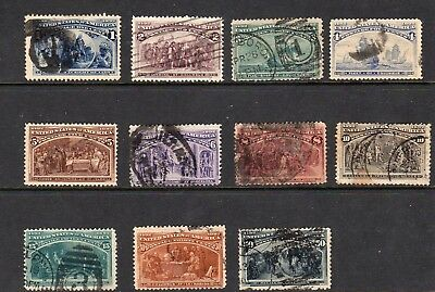 United States - 1893 - Columbian - Scott 230-240 - used collection