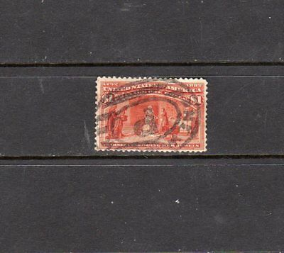 United States - 1893 - $1 Columbian - Scott 241 - used