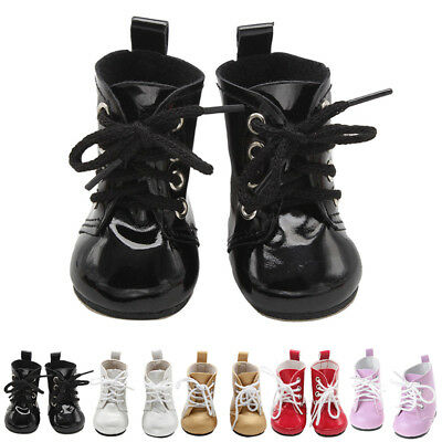 "Fashion Inch Leather Shoes Doll Ankle Lace Party Boots For 18"" Clothes Up Girl"