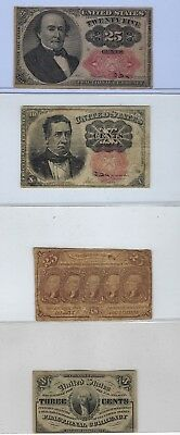 USA Fractional Currency Lot - 4 different