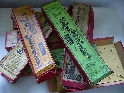 Job Lot Vintage Empty Britains Boxes For Lead Soldiers & Farm - Whisstock