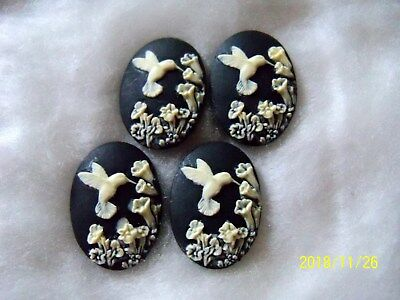"""REDUCED WEDGEWOOD STYLE BUTTONS  (4 PCS)  3/4"""" wide  1"""" tall  008"""