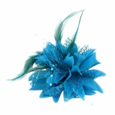 Mini Hat Fascinator Hair Accessories Brooch with Beads and Feathers