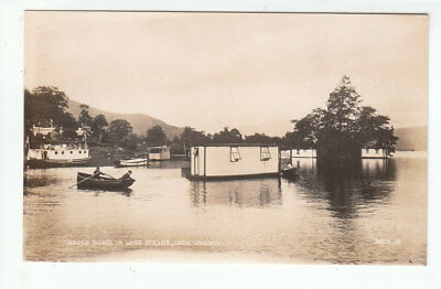 House Boats In Luss Straits Loch Lomond 1923 Real Photograph Colquhoun Valentine