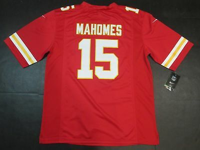 New Patrick Mahomes #15 Kansas City Chiefs Mens Limited Jersey Red