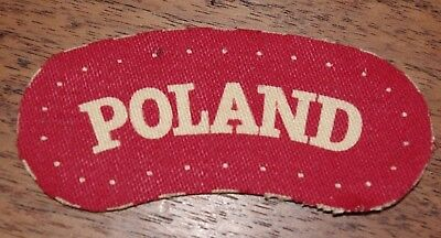Original Vintage Wwii Polish Cloth Badge - Poland Uniform Badge