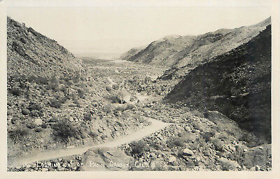 Palm Canyon Palm Springs California Great Old Real Photo Postcard View