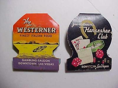 Early Horse Shoe And Westerner Clubs, Las Vegas Matchbooks, Unused!!!!!