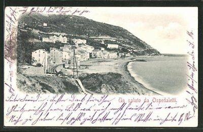 AK Ospedaletti, Ortspartie am See 1909