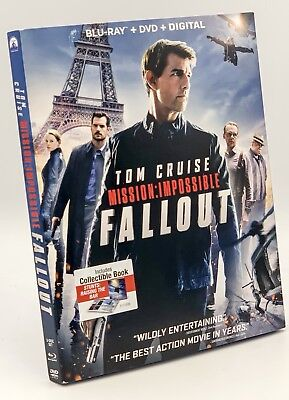 Mission: Impossible - Fallout (Blu-ray+DVD+Digital, 3-Disc Set) NEW w/ Slipcover