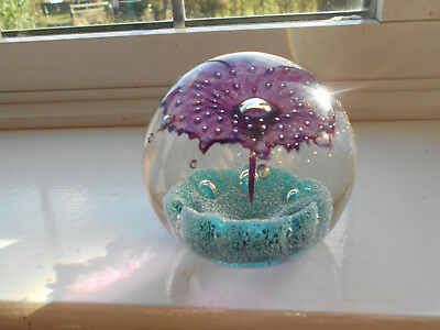 """Vintage 3"""" Signed Caithness """"fountain"""" Scotland P16779 Paperweight Mint"""
