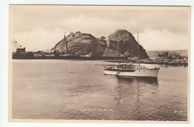 Yacht At Dumbarton Rock Shipyards 1947 Valentines B74 Old Postcard Unposted