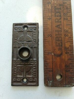 Antique cast iron cabinet Door Backplate, Sargent & Co., 5565