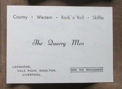 NIGEL WALLEY Signed QUARRY MEN Manager BUSINESS CARD Autograph THE BEATLES