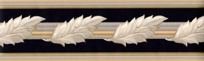 Victorian Antique Acanthus Leaf Ornate Molding Architectural Wallpaper Border