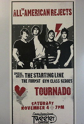All-American Rejects Concert Poster Tweeter Center Philadelphia November 4th !