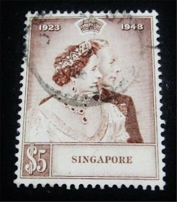 nystamps British Singapore Stamp # 22 Used $45