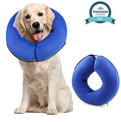 For Dogs & Cats Protective Inflatable Cone Collar, Adjustable Soft Pet Recovery
