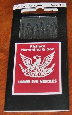 Richard Hemming Embroidery Needles #10 Sewing, Embroidery Smocking, Bullion Rose