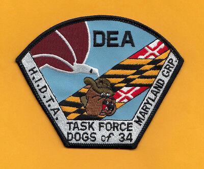 C3 * Dea Md Group 34 Ocdetf Taskforce Fed Patch Ice Police Drug Agency Hidta
