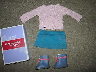 """Authentic 18"""" AMERICAN GIRL DOLL SPARKLE SWEATER OUTFIT CLOTHES NEW Melanie NIB"""